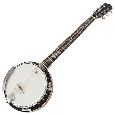 New 6 String Guitar Banjo by Gear4music