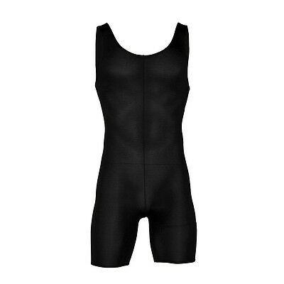 Starlite Cotton Lycra 'Chuck' Unitard - Boy's / Men's Black Unitard