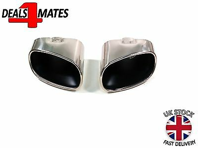 Chrome Sport Exhaust Pipe Muffler Tip Stainless Steel Set New For Bmw X5 E70