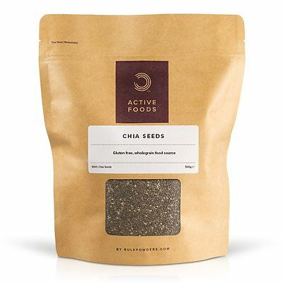 Bulk Powders Graines De Chia Noires | Superaliment Naturel | 500G-1Kg