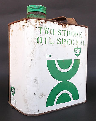 """""""bp Two Stroke Oil Special"""" Can/tin"""