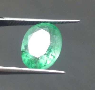 GGL Certified 4.20 CT Natural Oval Cut Muzo Green Emerald Gems For Nice Offer