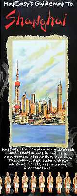 NEW~MAP OF SHANGHAI~MapEZ Guide, Waterproof+Details of CityCentral & PeoplesPark