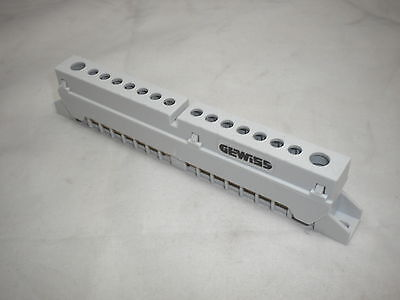 Gewiss Neutral & Earth Insulated Terminal Bar Block 8, 12, 18 Module Enclosure