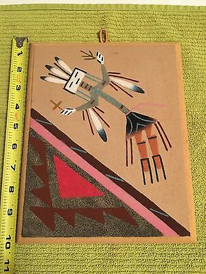 Original Navajo Indian Sand Painting Native American Art  SIGNED by artist