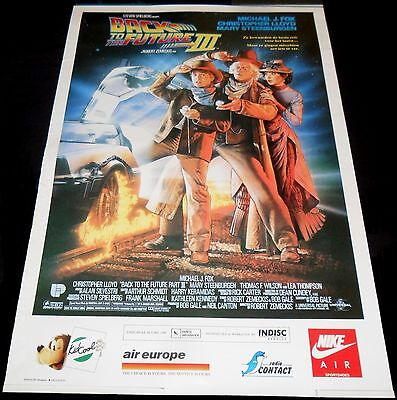1990 Back to the Future Part III ORIGINAL BELGIAN POSTER Michael J. Fox