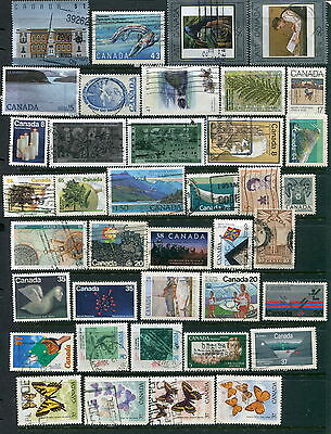 550 Different Used Canada Mainly Large or Commemorative Stamps (Lot #d9)