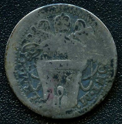 Italy Papal 1 Grosso Ca.1710 'Clement XI' (1.34 Grams .917 Silver)