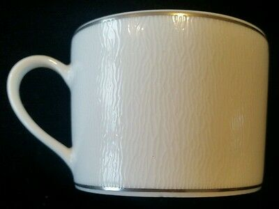 Bernardaud Dune Platinum  White Teacup Limoges France Porcelain NWT  Coffee Cup