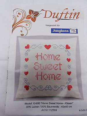 """Stickpackung """" Home Sweet Home """" Kissen   40x 40cm  (2079 *)"""