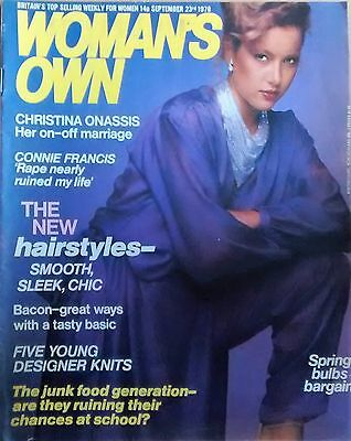 Woman's Own 23rd September 1978 Magazine CONNIE FRANCIS CHRISTINA ONASSIS