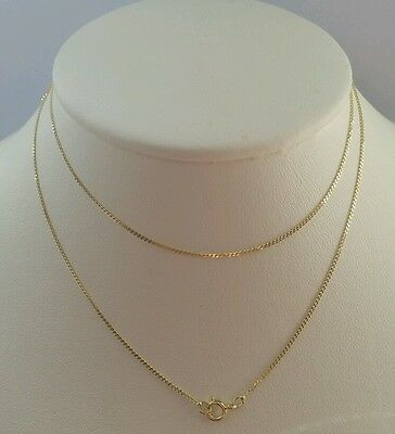 """9ct Solid Yellow Gold Fine Diamond Cut Curb Chain Necklace 18"""""""