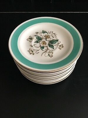 "Knowles ""Magnolia"" Set Of 13 Saucers"