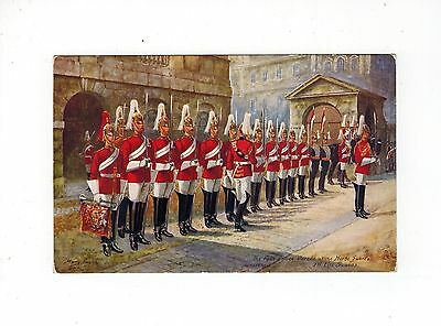 Postcard Gb Raphael Tuck No 9081 Military In London Ist Life Guards On Parade