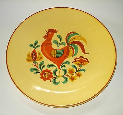 "Vintage TAYLOR SMITH & TAYLOR USA REVEILLE ROOSTER YELLOW 10"" DINNER PLATE"