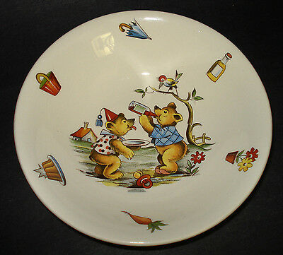 TEDDY BEARS Child Ceramic CEREAL BOWL James Kent Old Foley Staffordshire England
