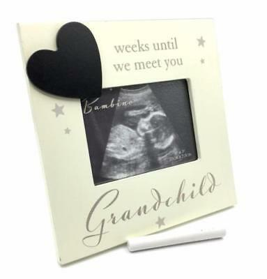 Grandchild Baby Scan Photo Frame With Countdown And Chalk CG1334