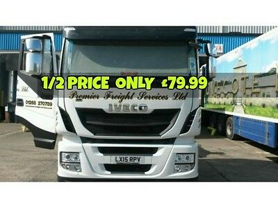 IVECO  Truck CHROME NOT Stainless Steel Mirror Covers Parts! Left & Right Side!!