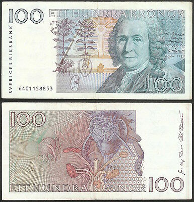 SWEDEN - 100 kronor 1996 P# 57b Europe banknote - Edelweiss Coins
