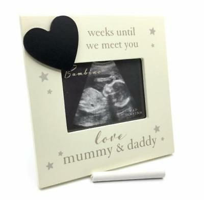Mum and Dad Baby Scan Photo Frame With Countdown And Chalk CG1336