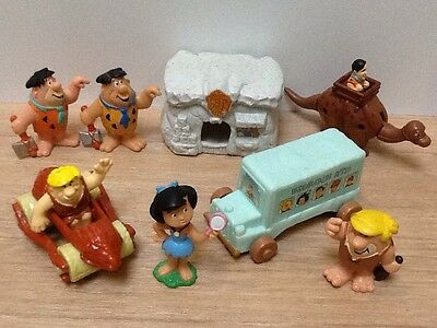 The Flintstones ~ Fred, Barney & Betty Vintage Bully & Other Figures Bundle