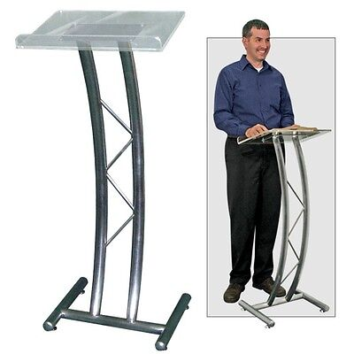 Metal Curved Truss Lectern W/acrylic Top