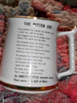 'the Bitter End' Vintage Mug Prince William Warranted 22 Carat Made In England