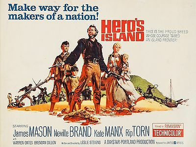 """Heros Island 16"""" x 12"""" Reproduction Movie Poster Photograph"""