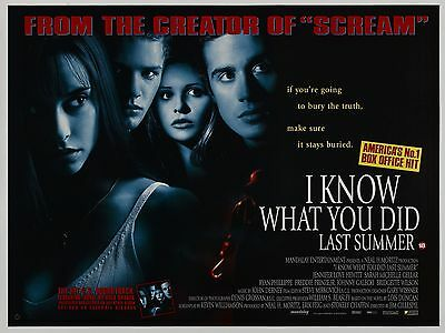 """I Know what you did last Summer 16"""" x 12"""" Repro Movie Poster Photograph"""