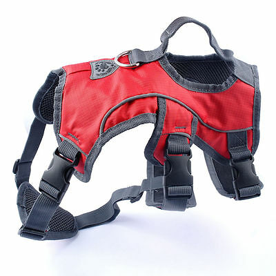 Reflective Outdoor Dog Harness with Soft Padded Safety for Climbing Hiking