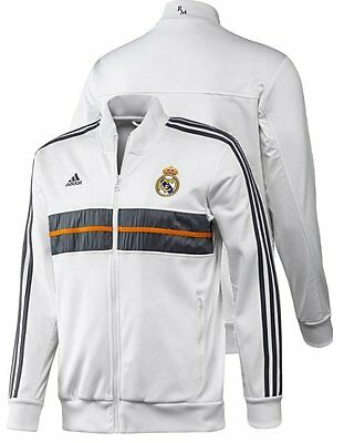 adidas Real Madrid 2013/14 Mens Anthem Jacket Track Top White