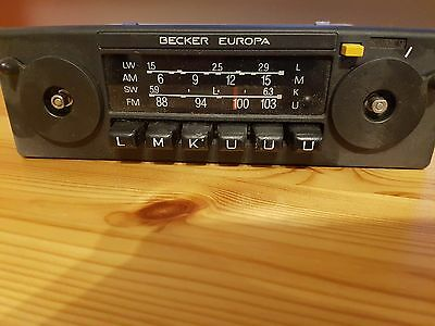 becker europa 598 oldtimer auto radio 70er jahre vintage. Black Bedroom Furniture Sets. Home Design Ideas