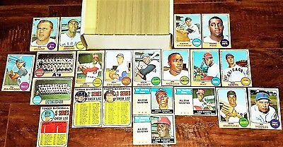 1968 TOPPS PT NEAR COMPLETE NM-MINT BASEBALL SET: AARON, McCOVEY BROCK DRYSDALE+