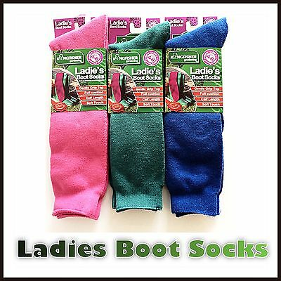 24 x PAIRS WHOLESALE JOBLOT WOMENS THERMAL WELLY WELLINGTON SOCKS FITS SIZE 4-8