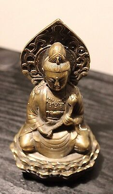 Chinese Old Bronze Collectable Handmade Casting Buddha Kwan-yin figurine