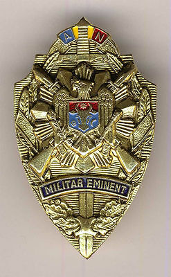 MOLDOVA ARMY HONORED MILITARY OFFICER BADGE MEDAL SOLID BRASS withAWARD DOCUMENT