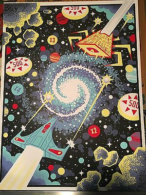 """Signed & Numbered """"Solenoids & Asteroids"""" Pinball Art Print by Graham Pilling"""