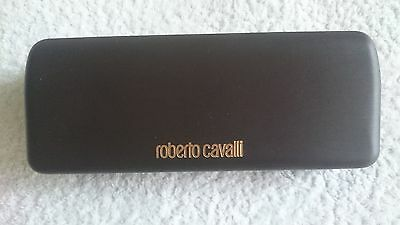 Glasses Case with Cloth,Roberto Cavalli,Brown,Hard,Big