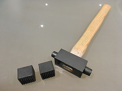 Stone Mason's/Carver's 35mm x 35mm Double Ended Bouchard Hammer Replaceable Ends