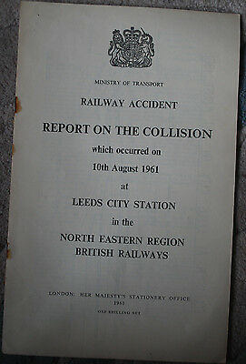 Railway Accident Report, Leeds City Station 10th August 1961