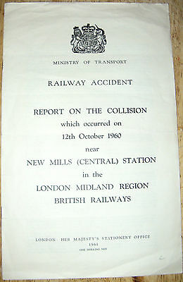 Railway Accident Report, New Mills (Central) Station 1960
