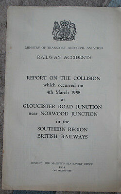 Railway Accident Report, Gloucester Rd Jcn nr Norwood Jn 1958