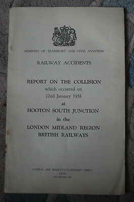 Railway Accident Report, Hooton South Junction 1958