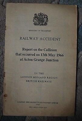 Railway Accident Report,Watford Junction & Watford High Street 16th Oct 1962