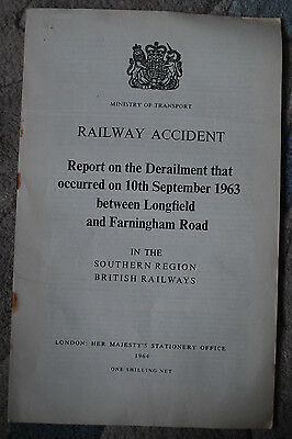Railway Accident Report,Longfield and Farningham Road 10th September 1963