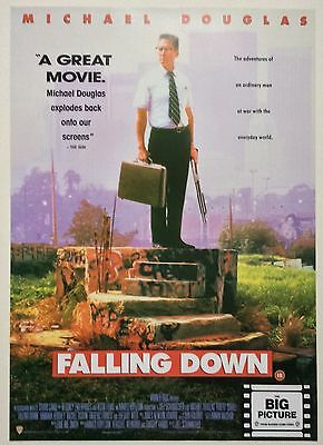 Falling Down / Original Vintage Video Film Poster / Michael Douglas 5