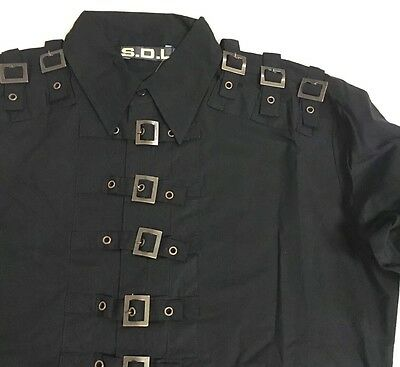 Steampunk SDL Copper Buckle Long Sleeves Shirt Chest Size 44 Inches