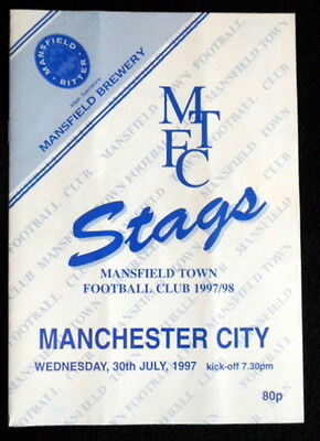 Mansfield Town v  Manchester City       friendly       30-7-1997