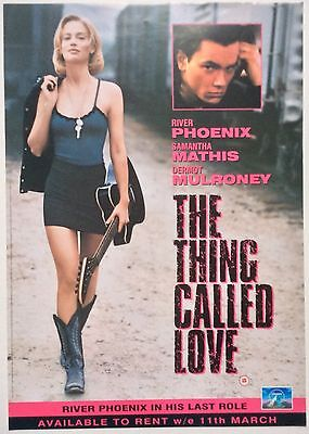 The Thing Called Love / Original Vintage Video Film Poster / River Phoenix 5
