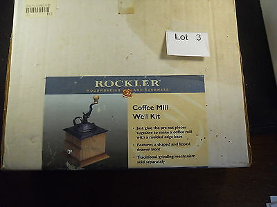 Rockler Woodworking Coffee Mill Kit Maple wood #19711 Porcelain handle